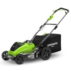 Аккумуляторная газонокосилка GreenWorks GD40LM45 (2500407), 40V, шириной 45 см