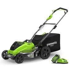 Аккумуляторная газонокосилка GreenWorks GD40LM45 (2500407UB), 40V, шириной 45 см, с АКБ 4 Ач и ЗУ