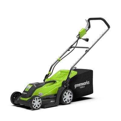 Электрическая газонокосилка GreenWorks GLM1035 (2505107), 1000W, шириной 35 см