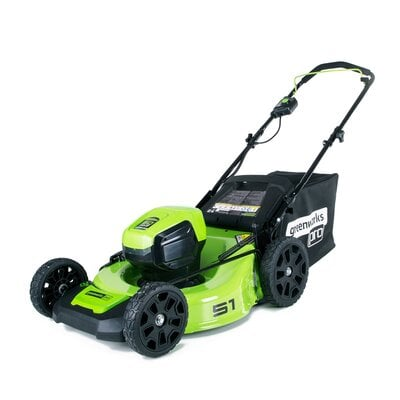 Аккумуляторная газонокосилка GreenWorks GD60LM51HP (2502707) Pro, 60V, шириной 51 см