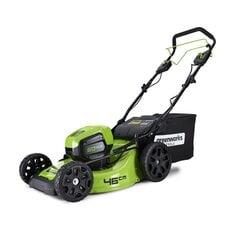 Аккумуляторная самоходная газонокосилка GreenWorks Pro 60V Max-Volt 46 см