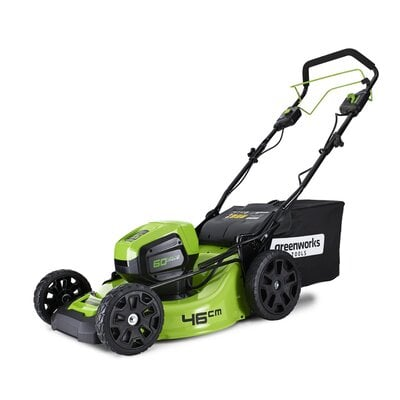 Аккумуляторная самоходная газонокосилка GreenWorks Pro 60V Max-Volt DigiPro 46 см