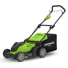 Аккумуляторная газонокосилка GreenWorks G40LM41 (2504707), 40V, шириной 41 см