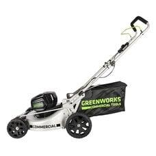 Аккумуляторная газонокосилка GreenWorks GC82LM46 (2502407) Commercial, 82V , шириной 46 см