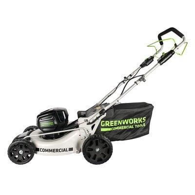 Аккумуляторная самоходная газонокосилка GreenWorks GC82LM46SP (2502507) Commercial, 82V, шириной 46 см