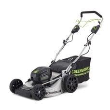 Самоходная аккумуляторная газонокосилка GreenWorks GC82LM51SP (2502607) Commercial, 82V, шириной 51 см