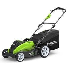 Аккумуляторная газонокосилка GreenWorks G40LM45 (2500107), 40V, шириной 45 см