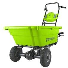 Аккумуляторная самоходная садовая тачка GreenWorks G-MAX 40V