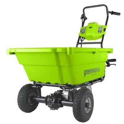 Аккумуляторная самоходная садовая тележка GreenWorks G-MAX 40V