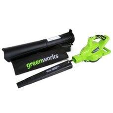 Аккумуляторный воздуходув-садовый пылесос Greenworks G-MAX 40V DigiPro