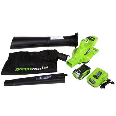 Аккумуляторный воздуходув-садовый пылесос Greenworks G-MAX 40V DigiPro (Комплект)